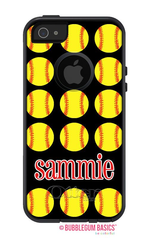 Lots of Softballs Name Initial #Monogram #OTTERBOX Commuter #iPhone 5 5S 5C 4/4S #Case by iselltshirts