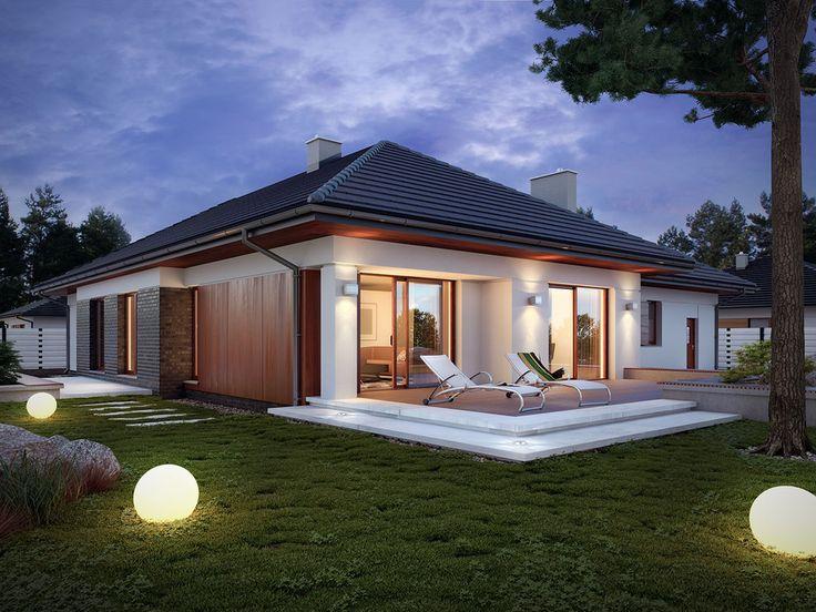 DOM.PL™ - Projekt domu TP Driada 6 CE - DOM TP1-66 - gotowy projekt domu