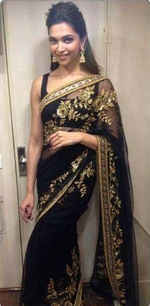 Lvly black saree