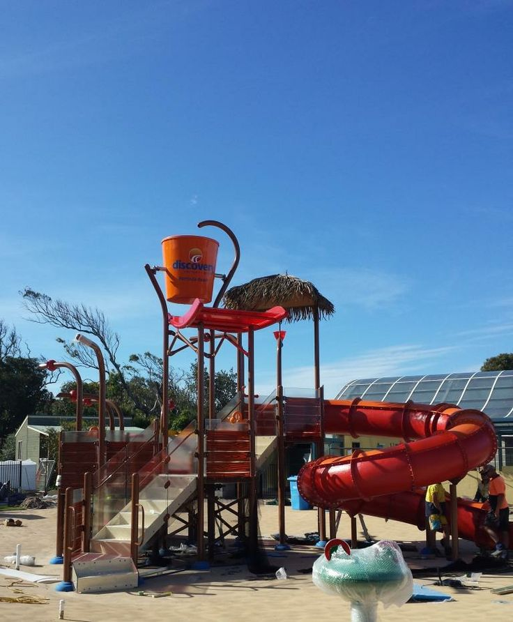 #Vortex #Splashpad at Discovery Holiday Park Pambula Beach - the elevation is complete