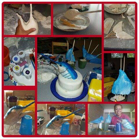 22 best marlin cake images on Pinterest Fishing cakes Biscuits