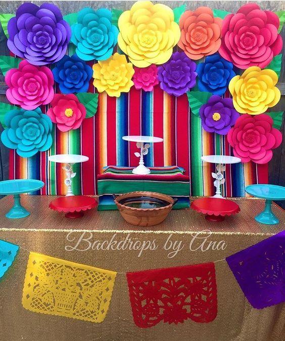 Mesa de postres mexicanas decoracion de mesa de postres - Cosas para decorar una fiesta ...