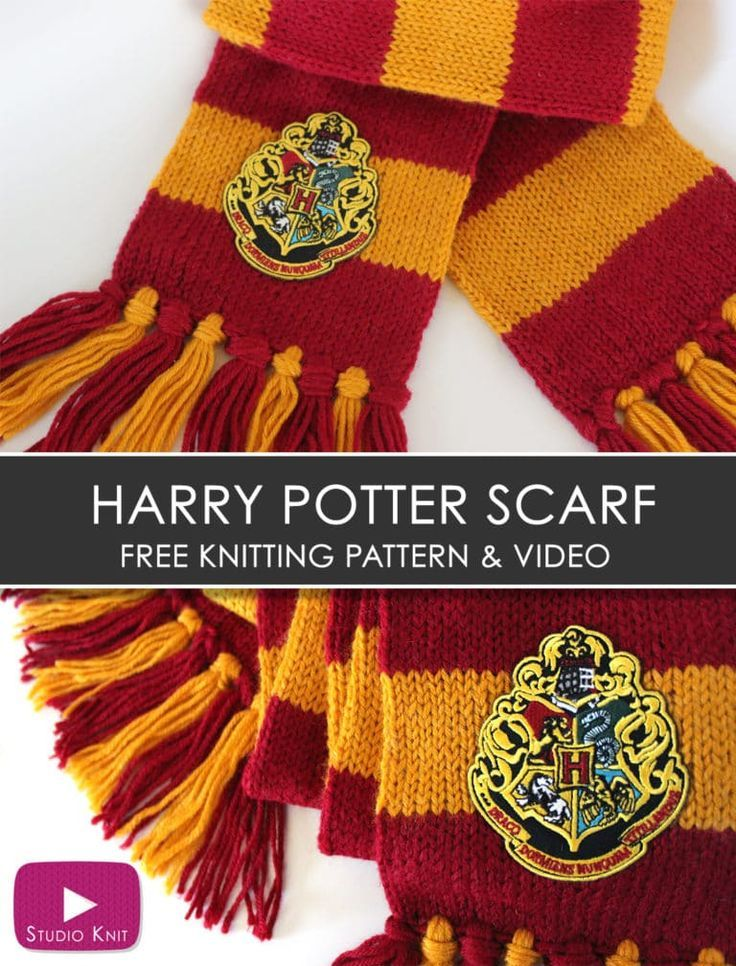 How To Knit A Harry Potter Gryffindor Scarf Knit Craft Autumn