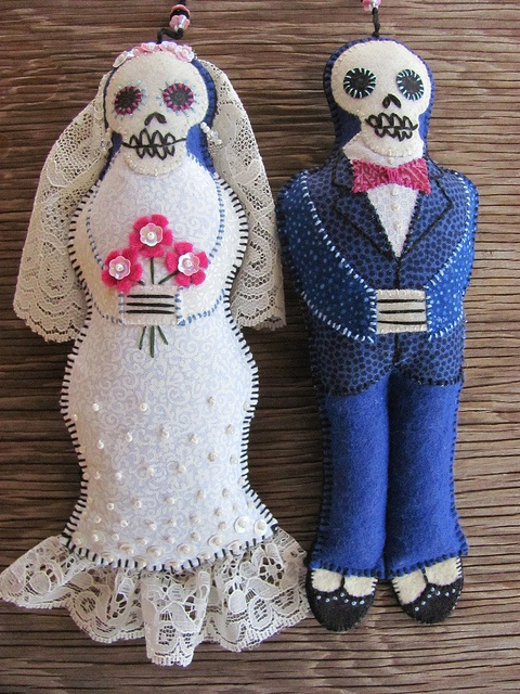 Embroidered Day of the Dead Calaveras