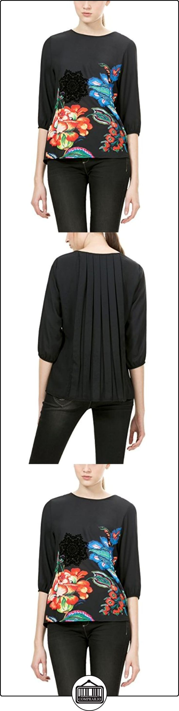 Sublevel D5240N10799A, Blusa para Mujer, Negro (24000-Black 24000), 38 (Talla del Fabricante: S)