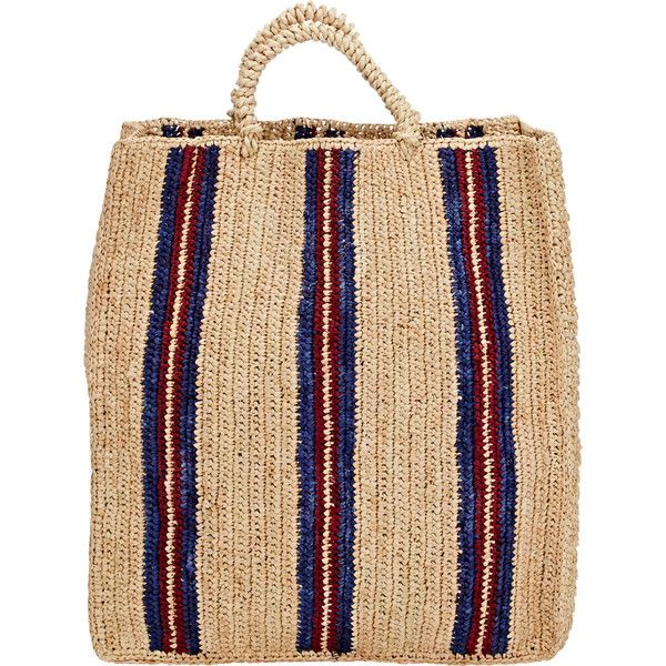Soeur Sac 3 Tote (1.630 ARS) ❤ liked on Polyvore featuring bags, handbags, tote bags, multi, woven tote bags, stripe purse, woven handbags, beige tote and tote purses
