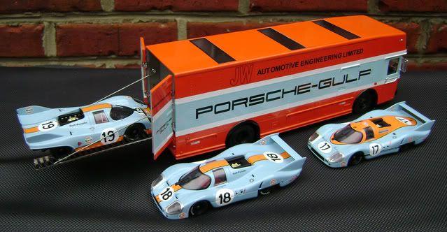 ... Premium ClassiXXs Gulf-John Wyer Race Car Transporter – Diecast Zone