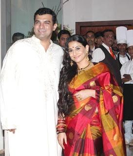 Vidhay Balan and Siddharth Roy Kapur at Pre Wedding Bash.