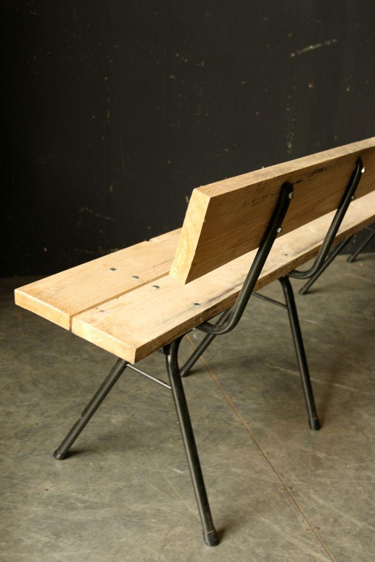 Industrieel Vintage Custom made Schoolstoel banken – Dehuiszwaluw