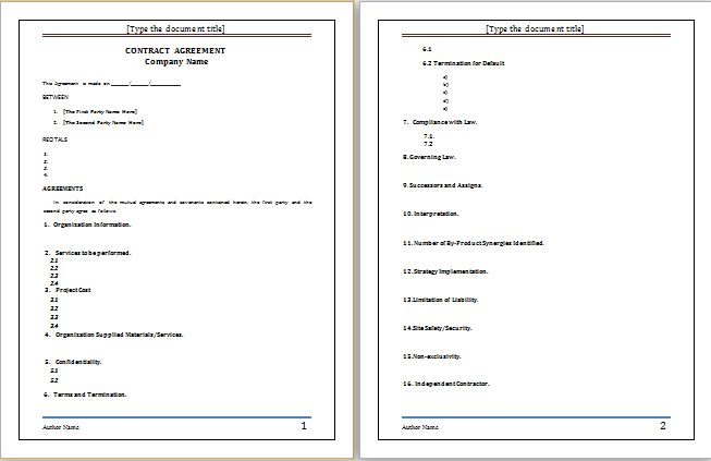 sales agreement template at worddoxorg Microsoft Templates - consignment inventory agreement template