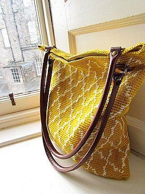 летняя сумка крючком гобелен схема