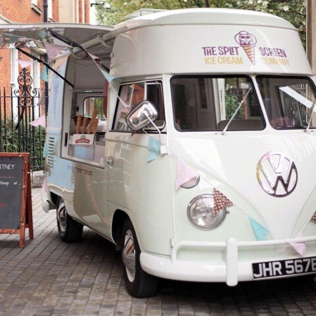 Awesome Stella McCartney Hired The Schmick @splitscreenicecream #VWKombi Ice Cream  Van For A Party Recently