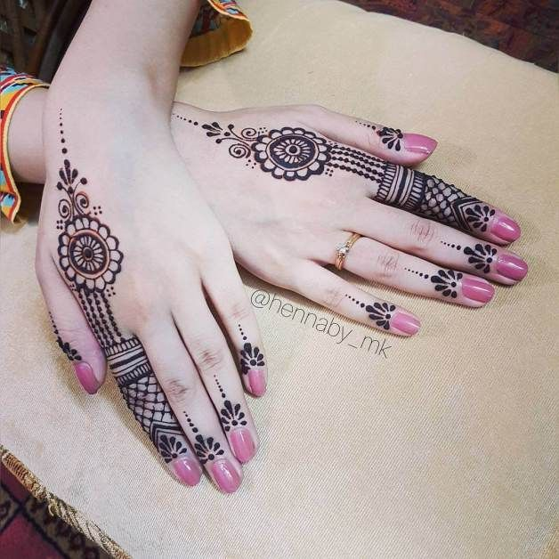 detailed henna tattoo for hands hennaby_mk