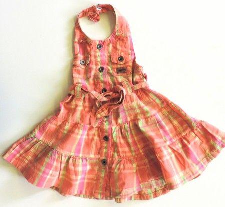 Kockás kantáros ruha (92)