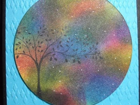 Create Aurora Borealis on your cards and scrapbook pages with sponges.  #stampin' Up! #technique #video #tutorial