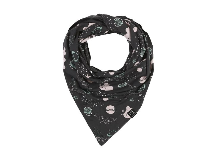 Graphite Planet Cowl Scarf  from KuKuKid, Rebel But Cute. Made in Poland. Available at Modern Rascals.