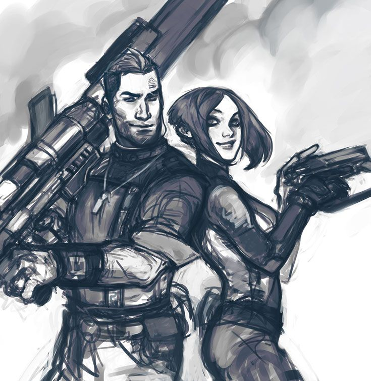 Axton and Maya by milch-tuete / anjakes http://milch-tuete.tumblr.com/ http://anjakes.deviantart.com/