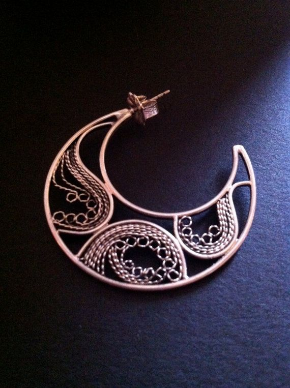 Filigree Crescent by StudioNebu on Etsy, $210.00