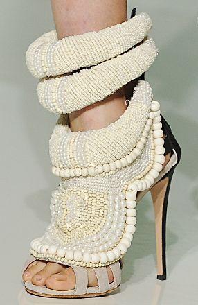 Kanye West shoes co-designed with Giuseppe Zanotti. Featuring pearl & crochet detailing. price tag# 6000 bucks  a pop. #giuseppezanottiheelskanyewest