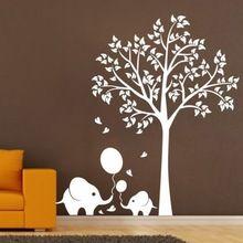 gratis verzending grote olifant boom muurstickers kinderen kwekerij huis muur stickers kunst muurschildering decorl/vinyl muurstickers(China (Mainland))