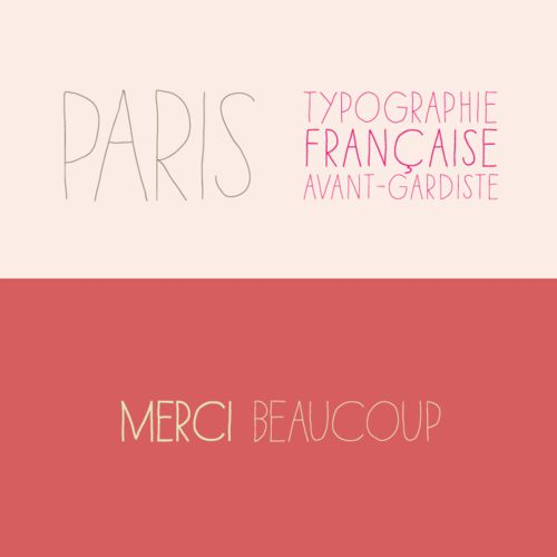 Typographie Française avant-gardiste