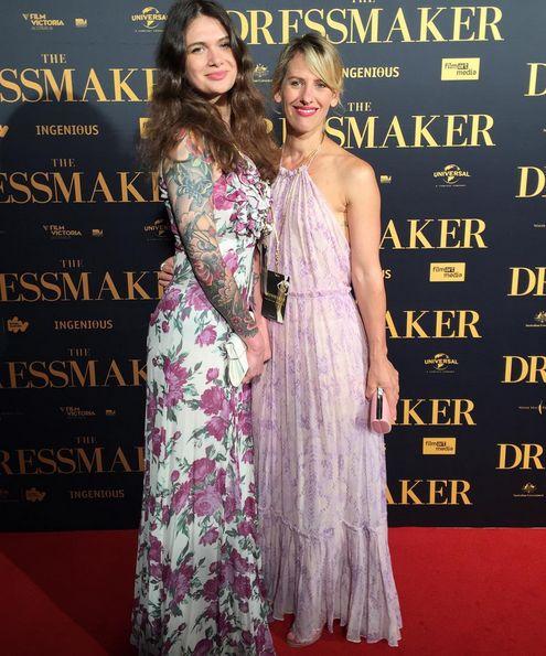 Our nevenka tribe at the Dressmaker premier in melbourne  #dressmakerpremiere #nevenkainternational #pink #floral #girlsnightout #film #art #fashion #creative #ingenious #australian #nevenka #melbourne #vintagenevenka