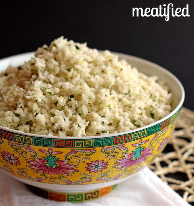Lime & Coconut Cauliflower Rice from http://meatified.com #paleo #glutenfree #whole30 #vegan #vegetarian