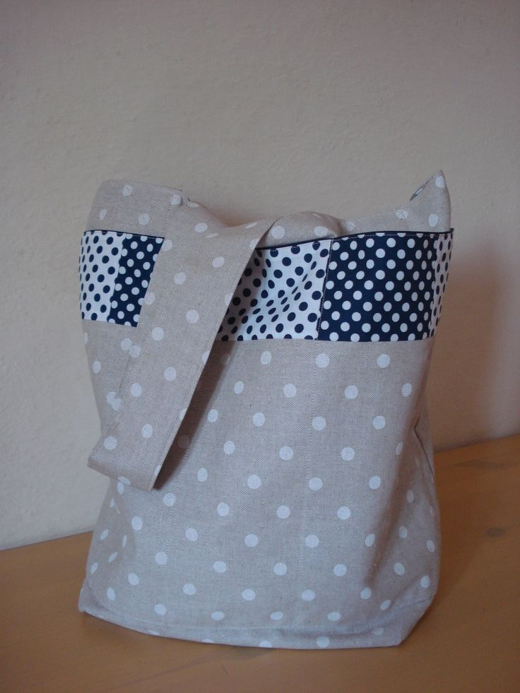 Cotton canvas grocery tote bag featuring Riley Blake fabrics