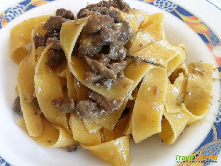 PAPPARDELLE AL RAGU' BIANCO DI CINGHIALE  #ricette #food #recipes