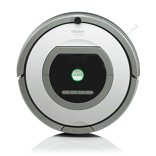 Roomba 760 Vacuum Cleaning Robot  Price: $449.99 Roomba 760's latest robotic cleaning features include: Advanced Cleaning Head - Designed with pet owners in mind; AeroVac Series 2 Bin; Dual HEPA Air Filters: Capture dust particles as fine as 0.3 microns, limiting the recirculation of fine particles and leaving fresher and healthier air behind. Automatically Clean under the bed and other hard-to-reach areas