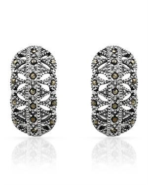 Ladies Marcasite Earrings Made Of 925 Sterling Silver $29.00 #PrivateLabel