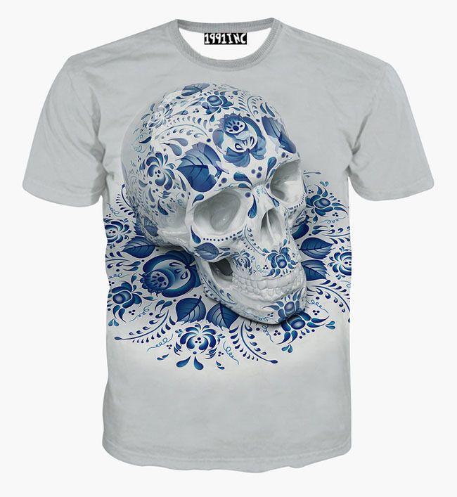 Купить [ Mikeal ] америка мода хип хоп футболка для мужчин лето топы 3d футболки печать черепа цветы тройники рубашки G1110и другие товары категории Футболкив магазине BestClothingнаAliExpress. рубашка вешалки и футболки унисекс