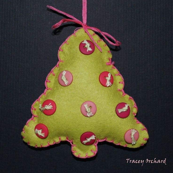 17 Best Images About Crafts: Felt Christmas Ornaments! On