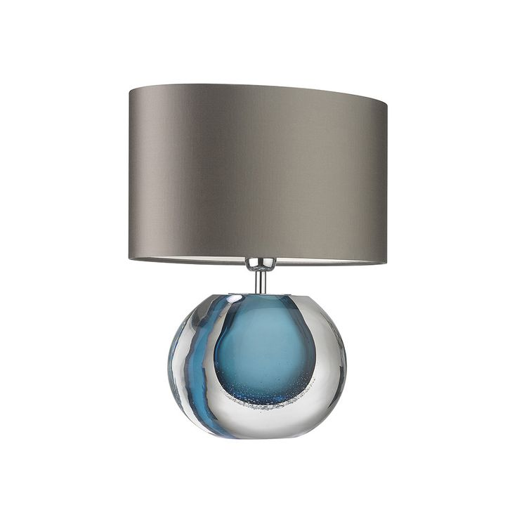 Discover the Zoffany Gaia Table Lamp - Velvet Blue at Amara
