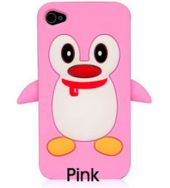 Pink Penquin Iphone case iPhone 4g 4s case Pink penquin  This case for Apple iPhone 4S & 4G  keeps your iPhone 4S & 4G safe and protected in style.