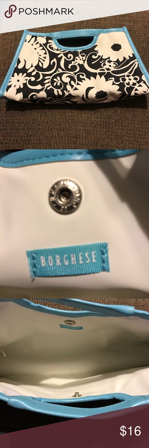 Cosmetic case Borghese make up case or small bag. Great condition. Borghese Makeup