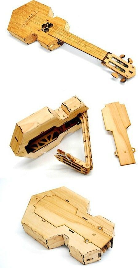 lardyfatboy: The folding Ukulele was designed by origami expert Brian Chan and is produced by Ponoko =Lardys Ukulele of the day - a year ago --- https://www.pinterest.com/lardyfatboy/