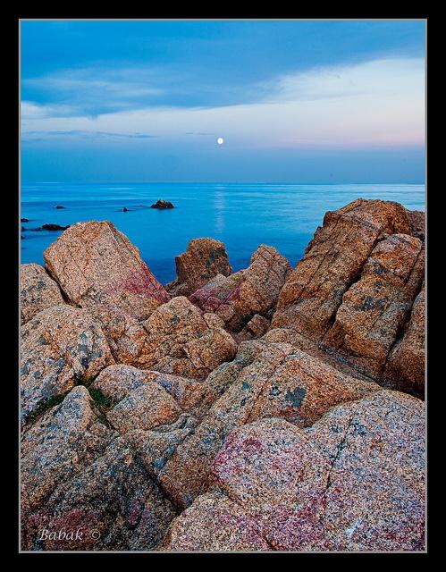 ✯ Moonrise on Coloured Rocks - South of France