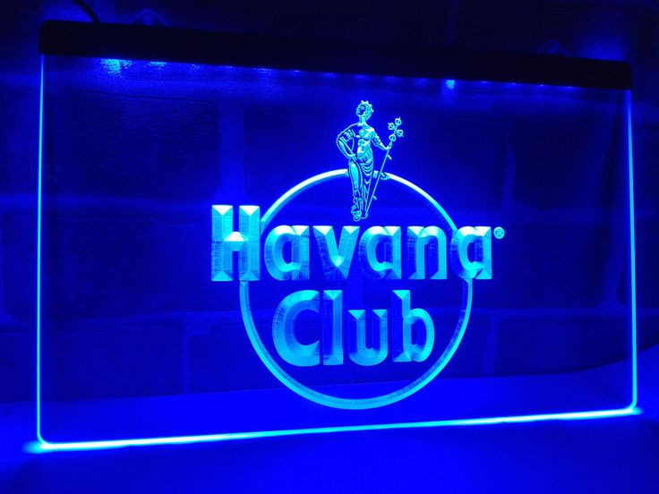 Havana Club Rum LED Neon Light Sign home decor crafts