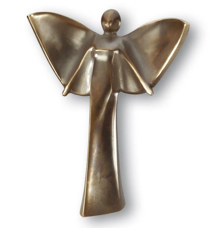 Engelfigur Il Angelo 22 cm Bronzeskulptur #schutzengel