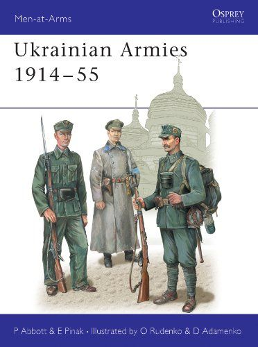 Ukrainian Armies 1914–55 (Men-at-Arms):   There can be no region in Europe whose history has been more tortured than Ukraine. During the 20th century Austria, Poland, Russia, Germany, Hungary, Czechoslovakia and Romania vied for power over parts of this vast and fragmented area; and its divided peoples rose time and again in vain attempts to win their independence. For the first time in the West, this book gives a succinct summary of all the different armed forces raised among the Ukra...
