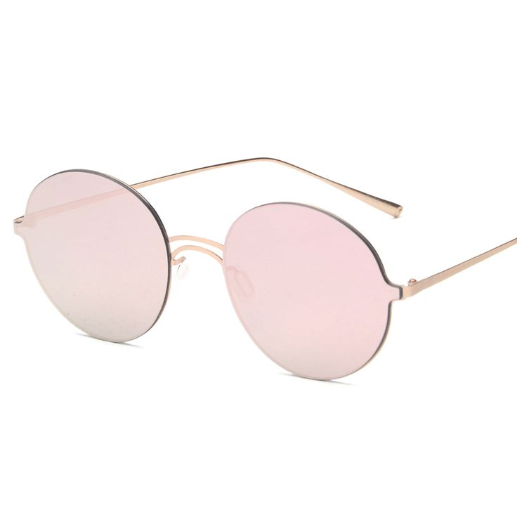 Mimiyou Luxury Vintage Round Lens Rimless 2 Beams Sunglasses Men Women Brand Shades Designer Eyewear Sun Glasses Oculos H272