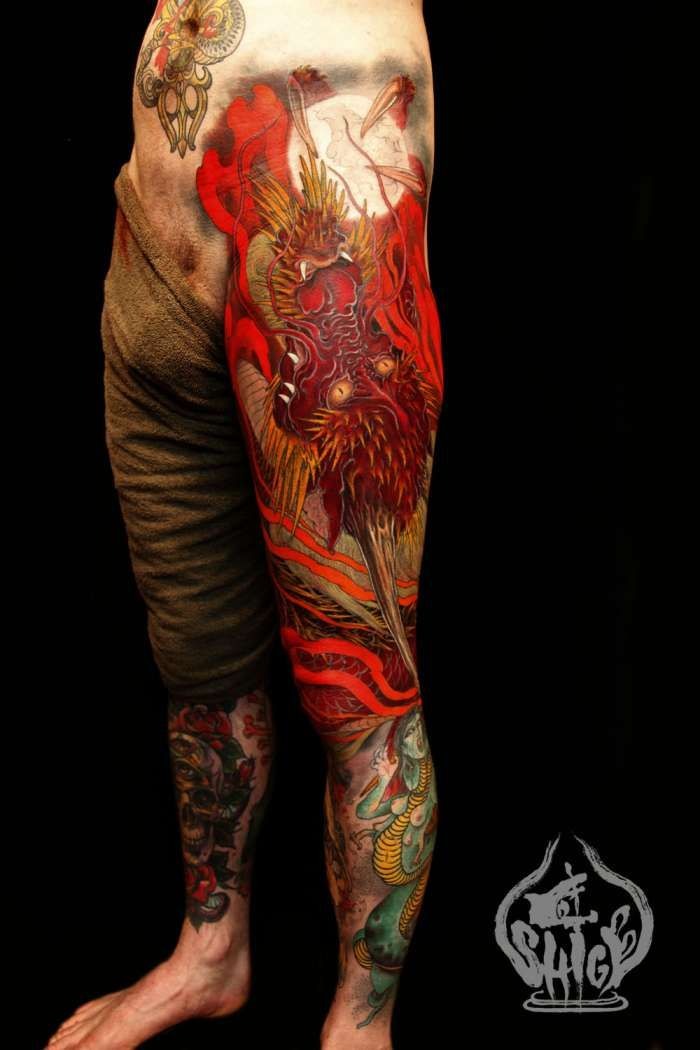 31 best shige yellow blaze tattoo images on pinterest for Yellow tattoo on dark skin