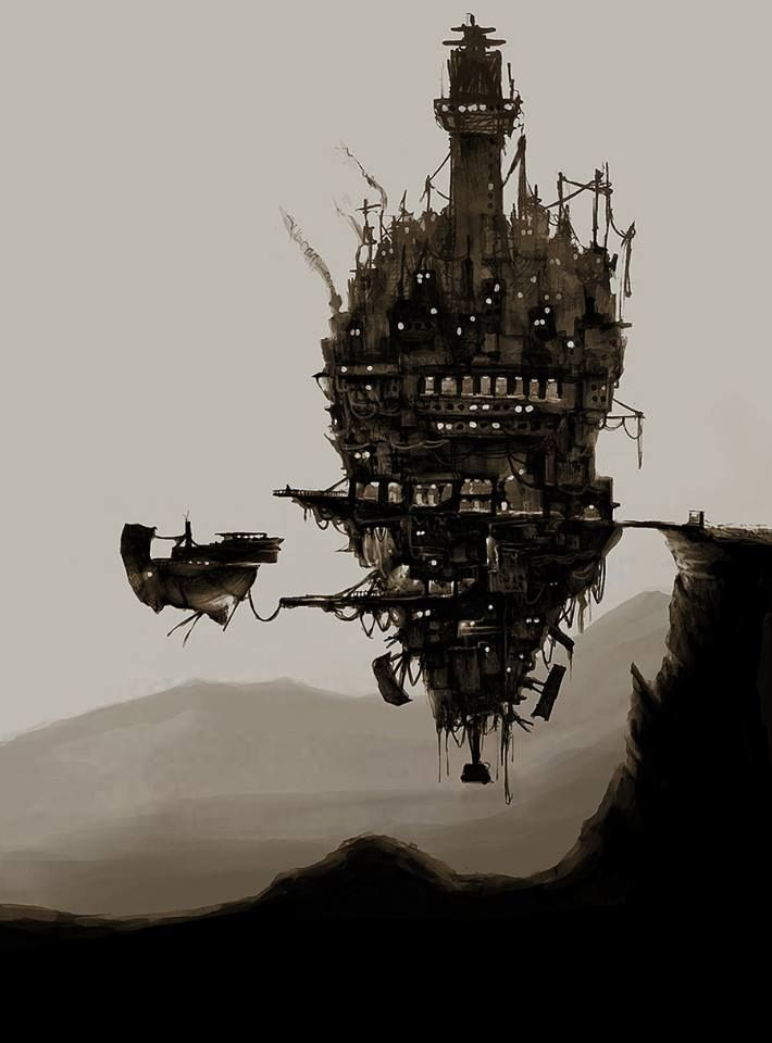 Steampunk Tendencies   Flying City by Bzzz88 #Concept #Steampunk
