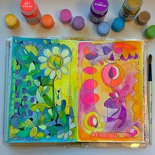 Original pinner sez: ...My art journal doodling with Pam Garrison w/ Creativebug. | by ginaleekim
