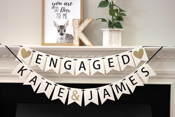 Engagement Party Decoration WE DO Glitter Banner Wedding Photo Prop Bridal Shower Banner Wedding Banner