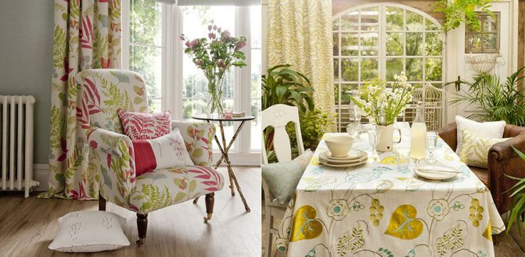 Wild Garden Fabrics  by Clarke & Clarke    Wild Garden fabrics has taking inspirations from the British countryside, this collection comprises of 6 hand drawn patterns, each created in a charming, organic style.    Priced from £16.00 per metre