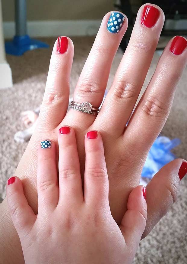 Teen Pedicure Stock Image Image Of Brunette Makeup: 44 Best Fourth Of July Nails Images On Pinterest