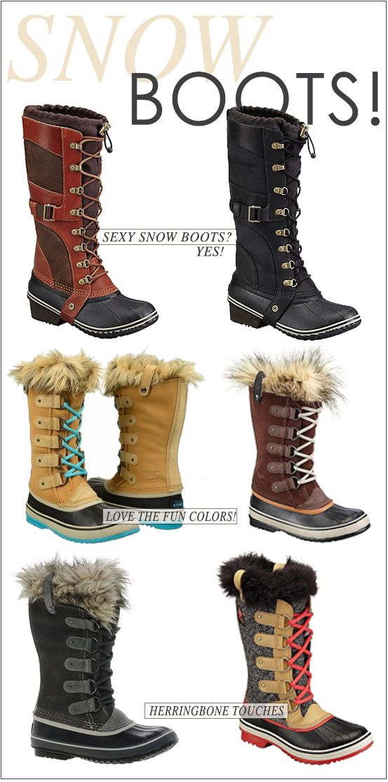 since the snow doesn't seem to be melting any time soon, here are some cute boot options for you!