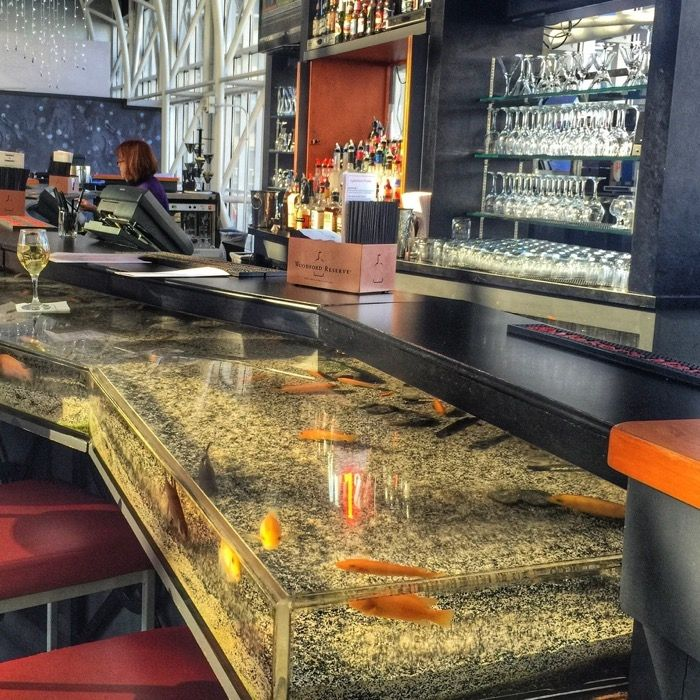 Aquarium Bar at the Galt House Hotel in Louisville,Kentucky.